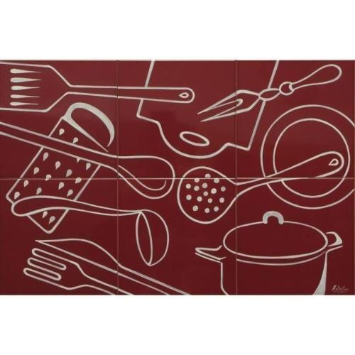 Decor plita kitchenware bordo