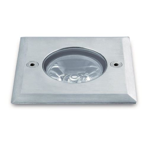 Corp incastrat patrat GLASS IP67 LED 1x1W otel inoxidabil 316L